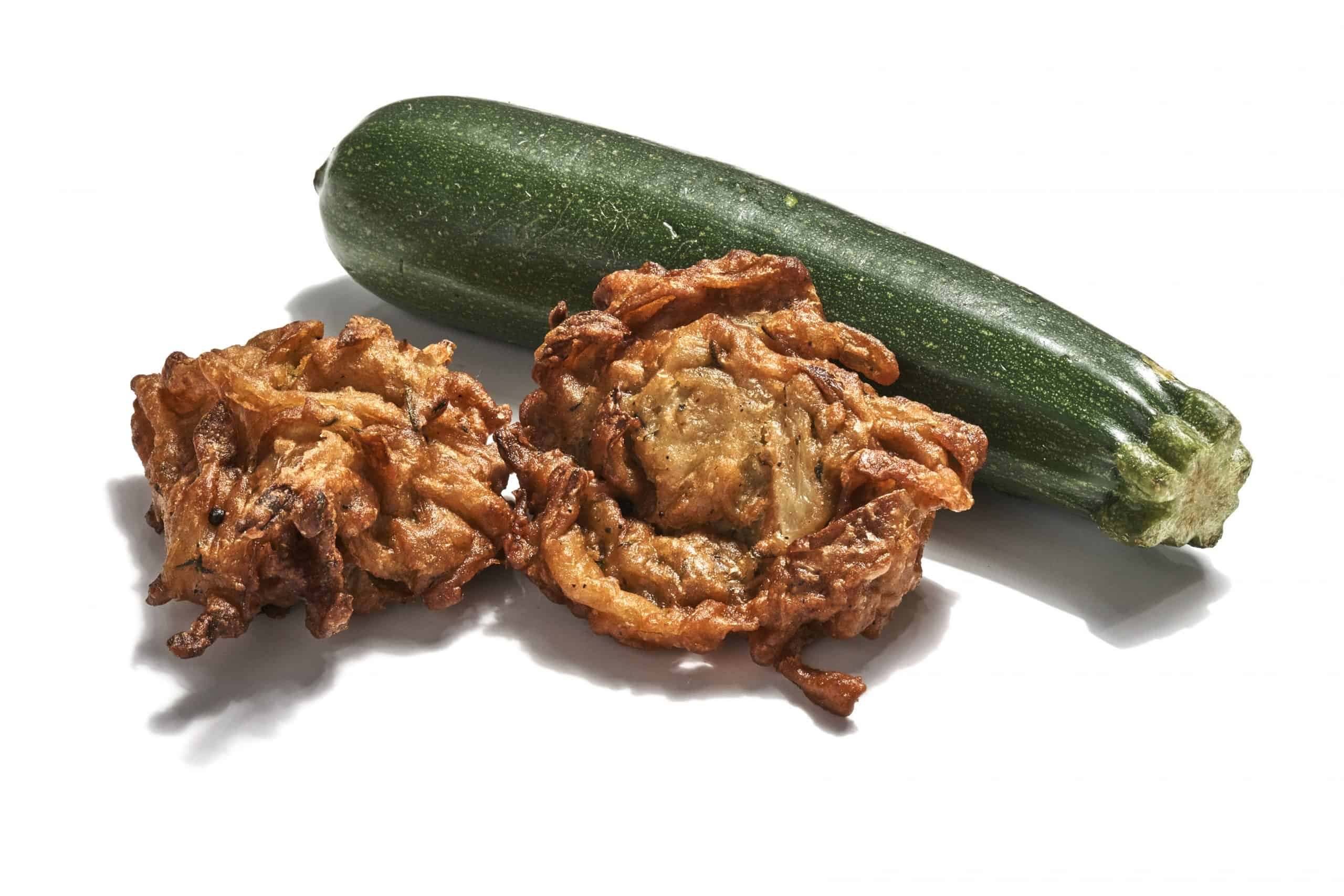 Courgette and onion Bhaji Gluten free Vegan